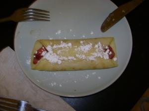 strawberry-rhubarb crepe