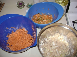 All the latke mix/batter. I went a little nuts...