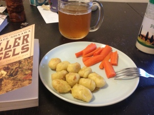 gnocchi, historical novel on the Battle of Gettysburg, and my nifty new beer mug!