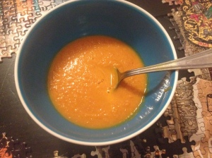 North African-ish carrot soup