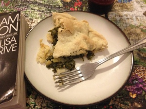 Pie, beer, and my current novel