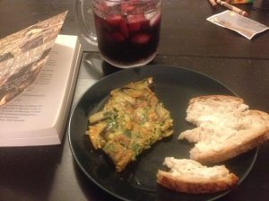 A truly international meal: kuku, sangria, and SF sourdough